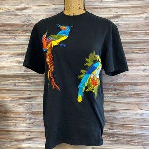 Black T-shirt with Birds- HMS200